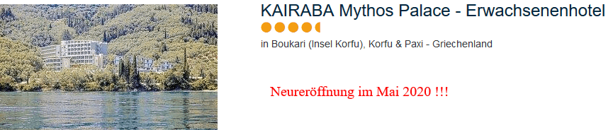 Kairaba Mythos Palace Korfu - Neueröffnung Luxushotel