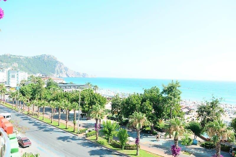 Kleopatra Beach Yildiz Blick vom Hotelzimmer - Alanya Urlaub