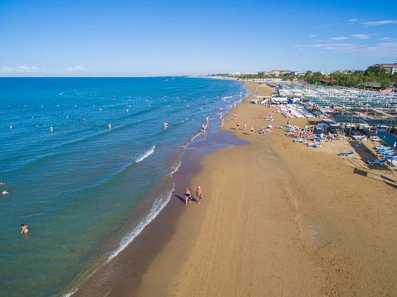 Kleopatra Beach ist der schönste Strand der Türkei - direkte Strandlage hat das Hotel