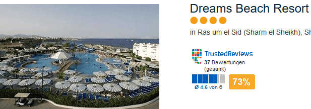 Last Minute Deal im 4 Sterne Hotel in Sharm el Scheich
