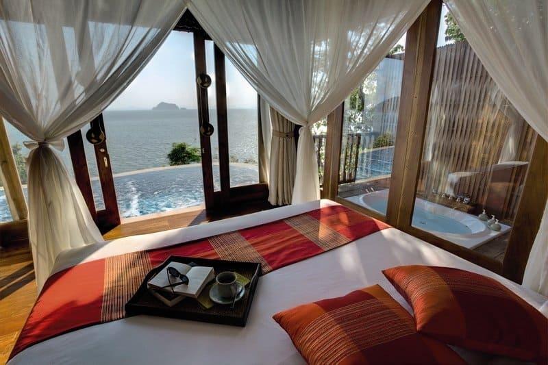Luxusurlaub mit Whirlpool und Privatpool Sea View
