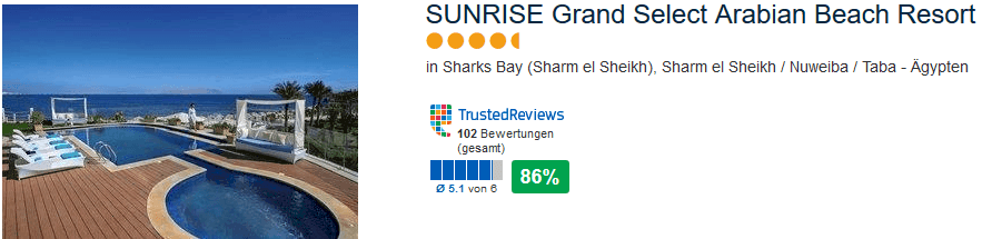 Neueröffnung Sunrise Grand Select Arabin Beach Resort 5 Sterne