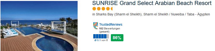 Neueröffnung Sunrise Grand Select Arabin Beach Resort 5 Sterne