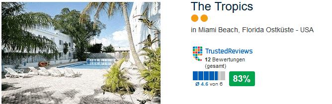 Beispiel Pauschalreise in das 2 Sterne Hotel The Tropics
