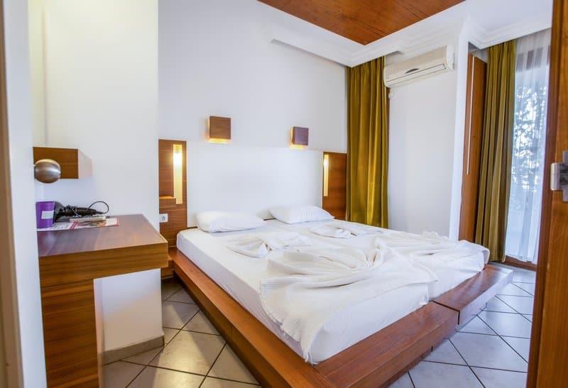Schlafzimmer von den Apartments der 4 Sterne Anlage