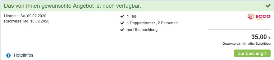 Screenshot Deal Berlin Städtereise - ab 17,50€ 4 Sterne Hotel