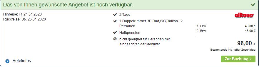 Screenshot Deal Borgata Wellness Hotel - nur 48,00€ Halbpension 2 Nächte Henkenhagen