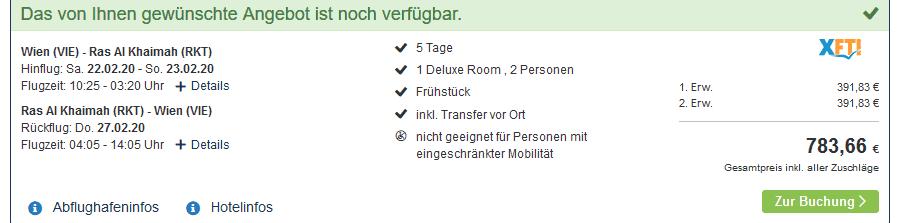 Screenshot Deal Doubletree by Hilton Ras Al Khaimah - Pauschalreisen nur 391,83€