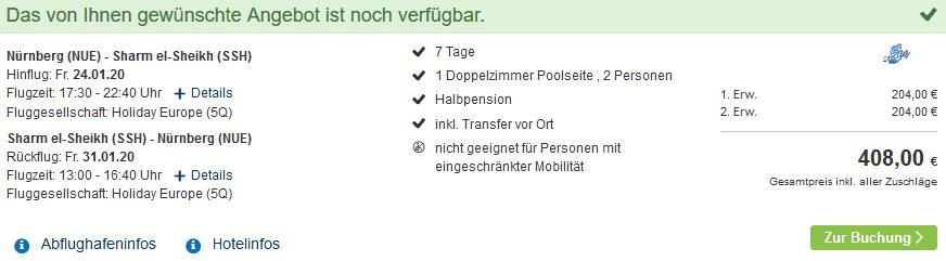 Screenshot Deal Happy Life Village - Pauschalreise ab 204,00€ Dahab