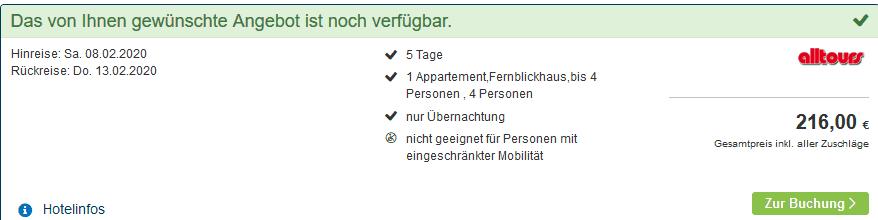 Screenshot Deal IFA Fehmarn Hotel & Ferien Centrum - nur 10,80€ die Nacht Ostsee