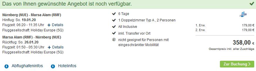 Screenshot Deal Marsa Alam Urlaub - ab 179,00€ All Inclusive 4 Sterne