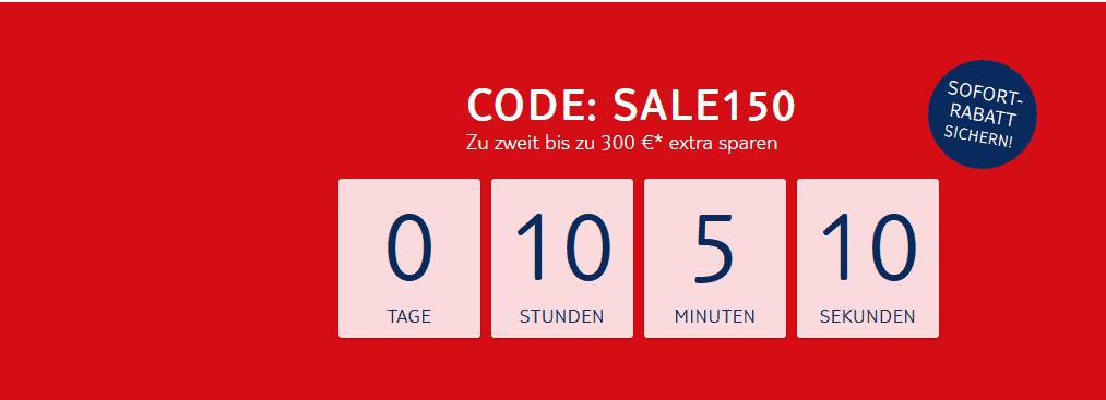 Screenshot Deal Pauschalreisen Gutschein Code - 300,00€ Sofort Rabatt TUI