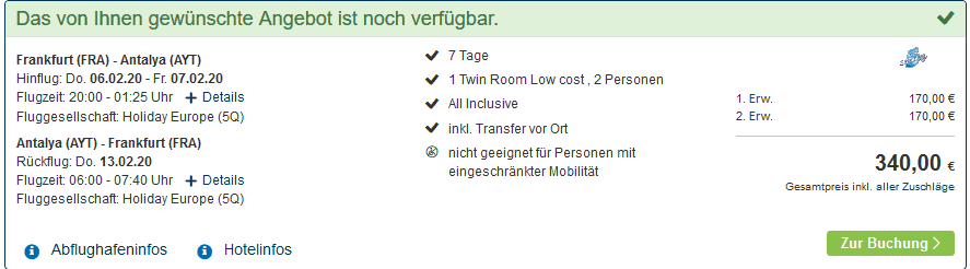 Screenshot Deal Side Last Minute - ab 170,00€ All Inclusive eine Woche 5