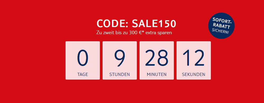 Screenshot Deal TUI Sofort Rabatt - 300,00€ Rabatt auf Pauschalreise für zwei