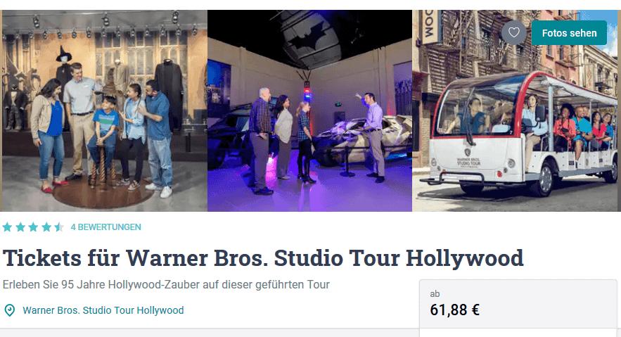 Screenshot Deal Warner Bros. Studio Tour Hollywood ab 61,88€ Los Angeles