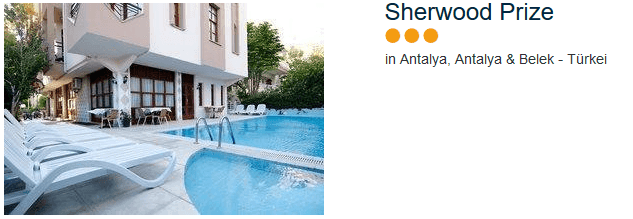 Sherwood Prize drei Sterne Hotel perfekt für einen Urlaub in Antalya Stadt