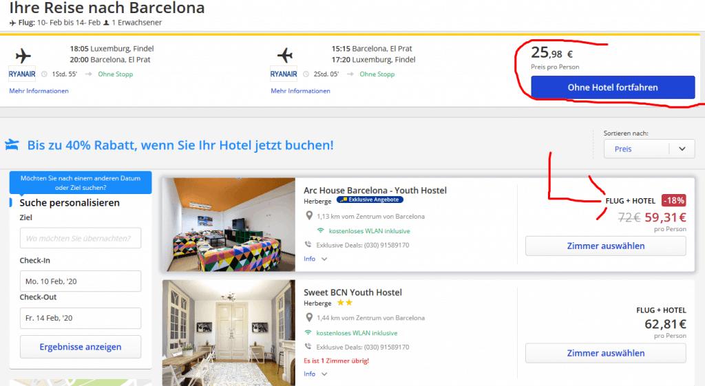 Städtereisen ab 59,00€ Flug und Hotel - Flüge nach Barcelona El Prat nur 26,00€ Hin & Zurück