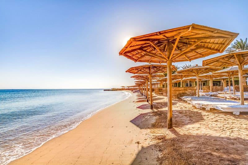 Strandabschnitt am ausgewählten Hotel für die Badeverlängerung