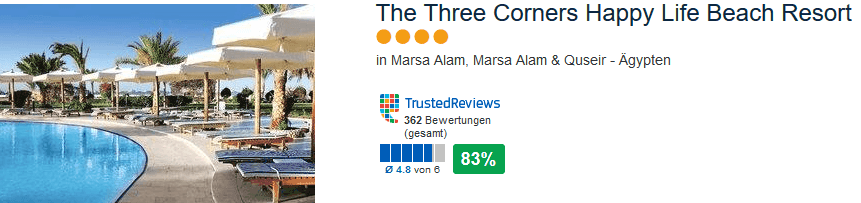 The Three Corners Happy Life Beach Resort - 4 Sterne Hotel