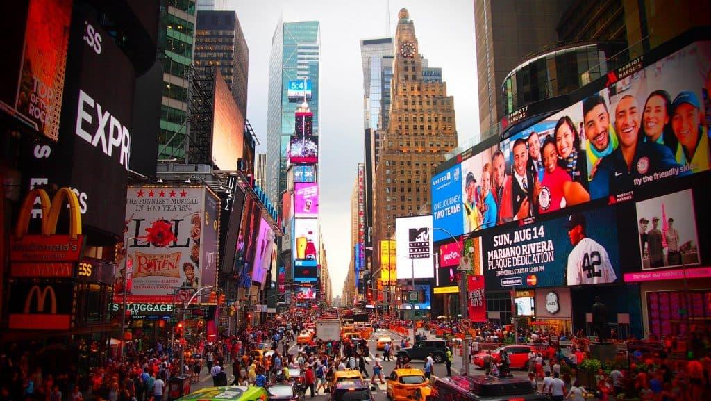 Time Square der belebteste Ort der Innenstadt