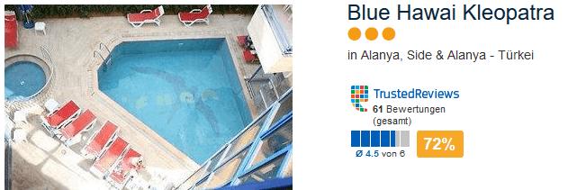 Türkei Pauschalreise an die türkische Riviera im drei Sterne Hotel