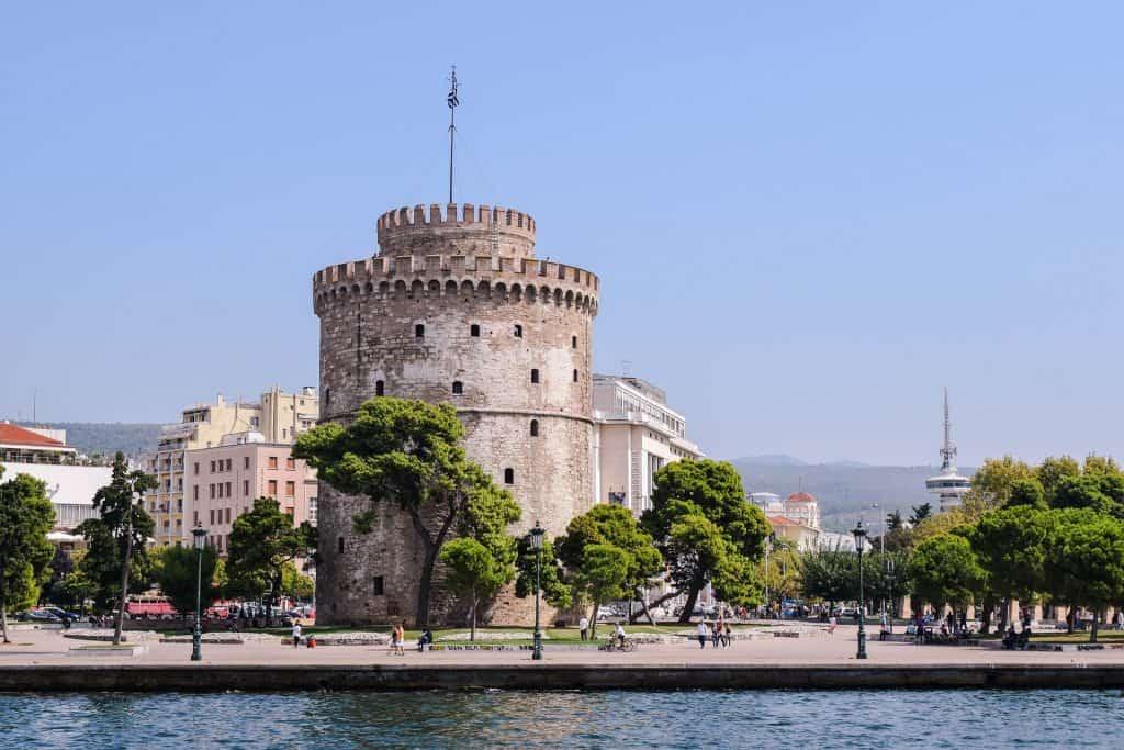 Wahrzeichen Thessalonikis der weiße Turm