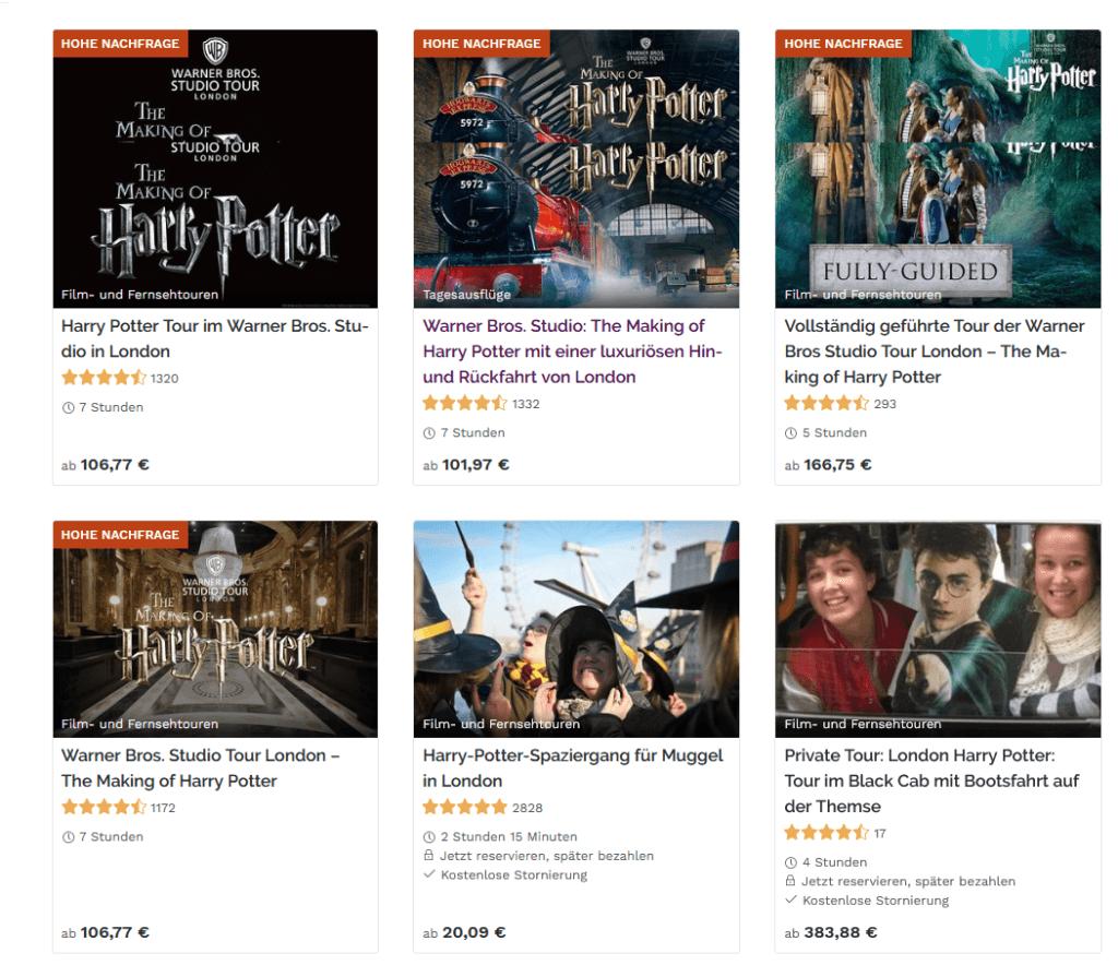 Alle Empfehlungen für Harry Potter