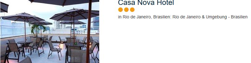 Casa Nova Hotel - drei Sterne in Rio de Janeiro