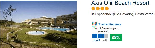 Esposende Hotel Axis Ofir Beach Resort - 4 Sterne in Rio Cavado