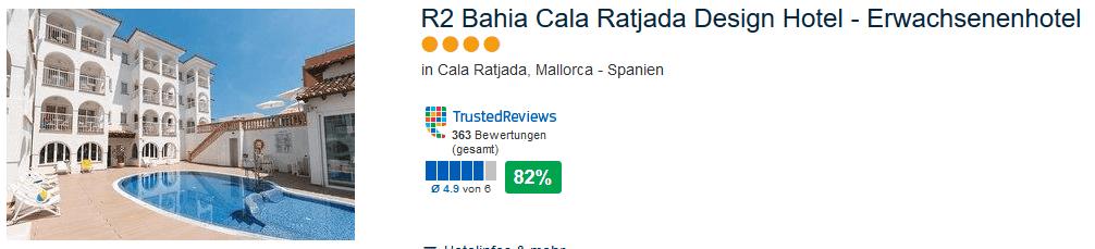 Gute Bewertung & Lage - R2 Bahia Cala Ratjada - Design Hotel Erwachsenenhotel