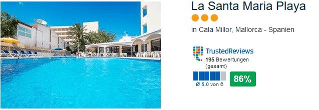 La Santa Maria Playa drei sterne Hotel - Last Minute Cala Millor