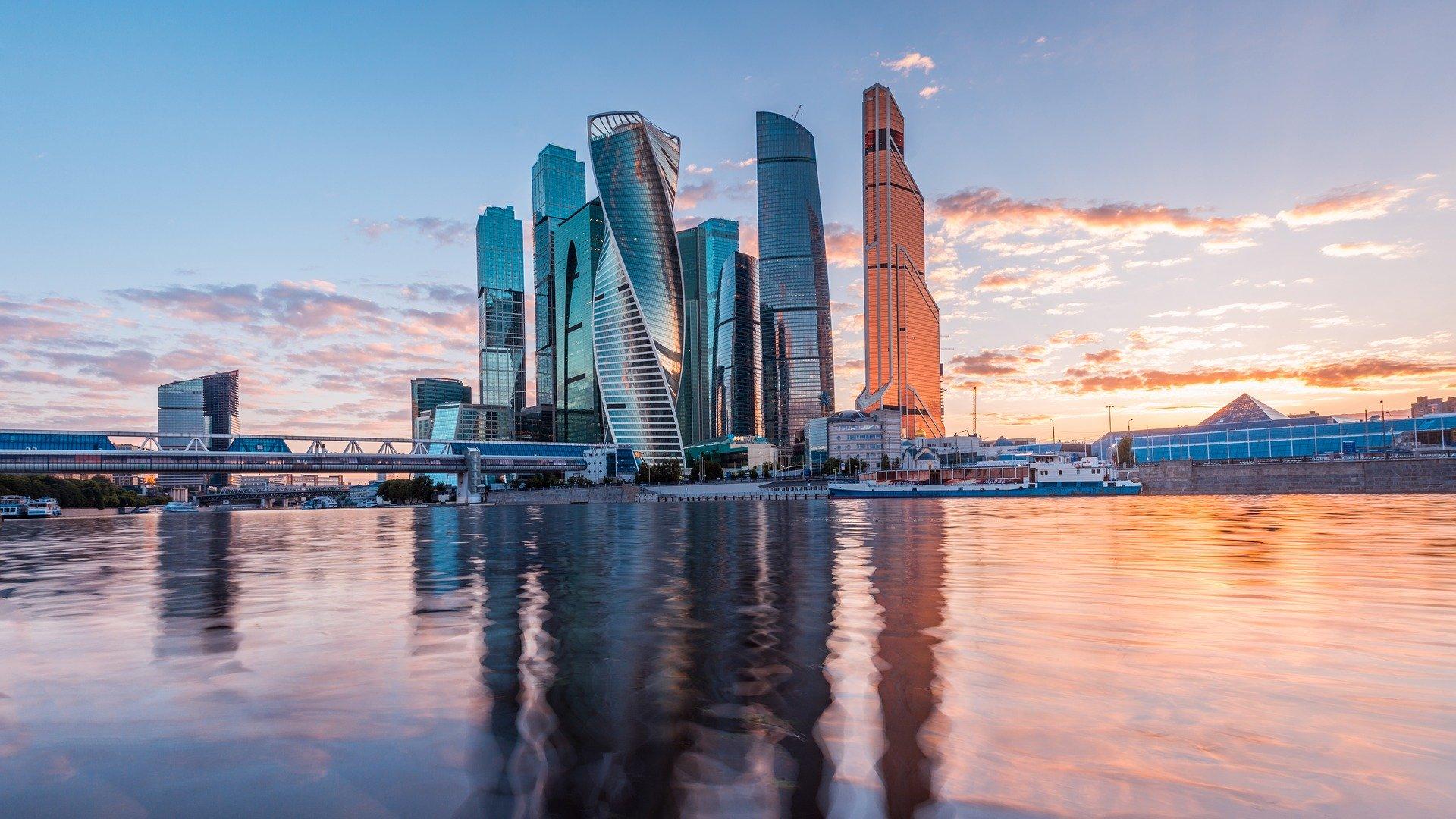Moskaus modernes Stadtviertel