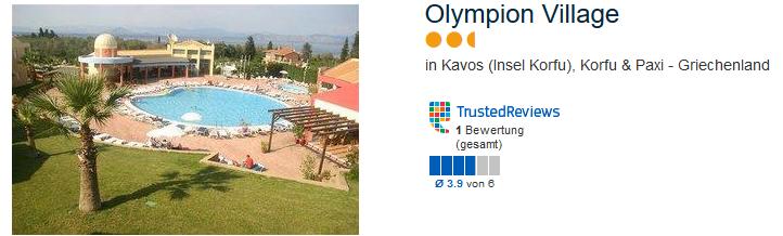 Olympion Village in Kavos