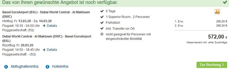 Screenshot Deal Abu Dhabi Ferien im 4 Hotel - eine Woche nur 286,00€