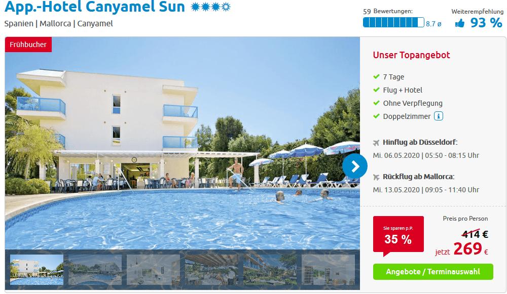 Screenshot Deal Alltours Mallorca - Reiseangebote ab 269,00€