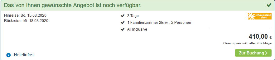 Screenshot Deal Hotel Victoria Kaprun - All Inclusive ab 68,33€