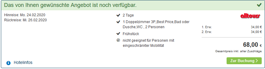 Screenshot Deal Kolberg Wellness - 2 Nächte Ostsee Urlaub ab 34,00€