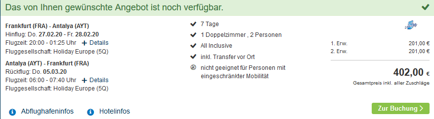 Screenshot Deal Seaden Hotel Corolla Side - nur 201,00€ All Inclusive Urlaub