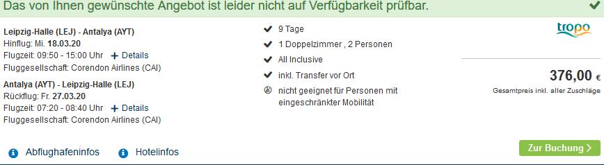 Screenshot Deal Side All Inclusive - 9 Nächte nur 188,00€ Pauschalreise