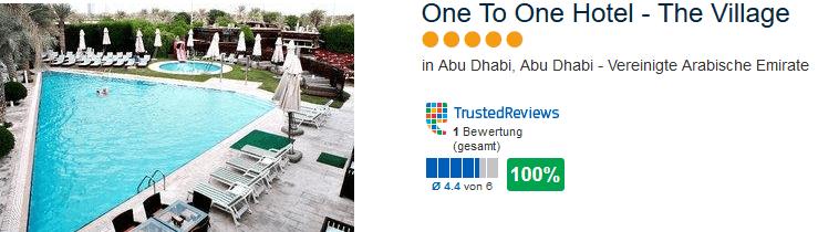 Vereinigte Arabische Emirate - One To One Hotel - The Village