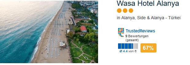 Wasa Hotel Alanya - drei Sterne Hotel mit direkter Strandlage