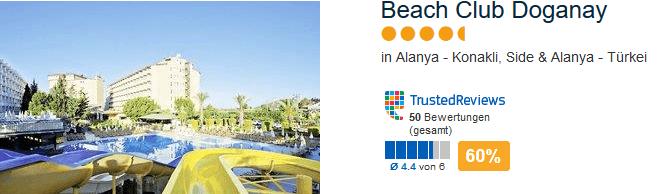Beach Club Doganay 4 Sterne Hotel in Alanya