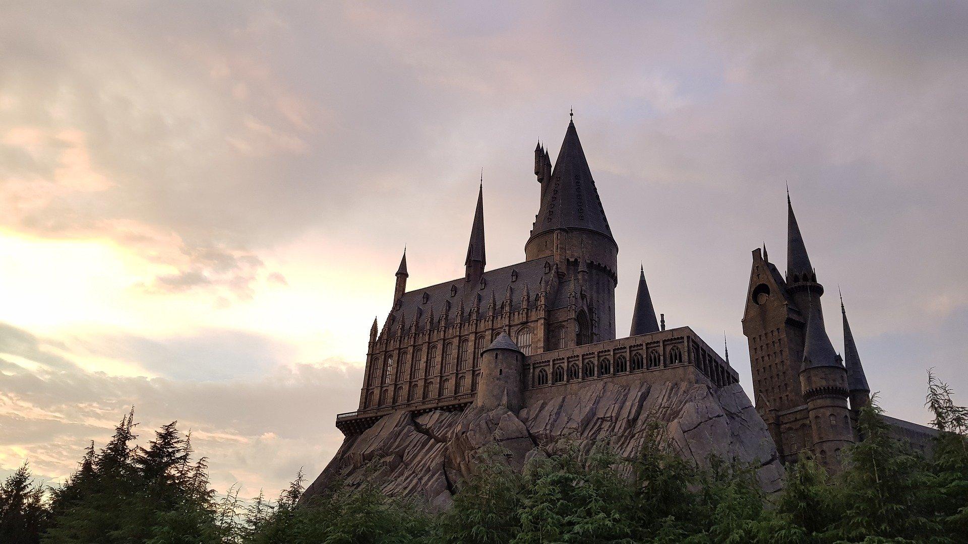 Die berühmte Burg von Hogwarts