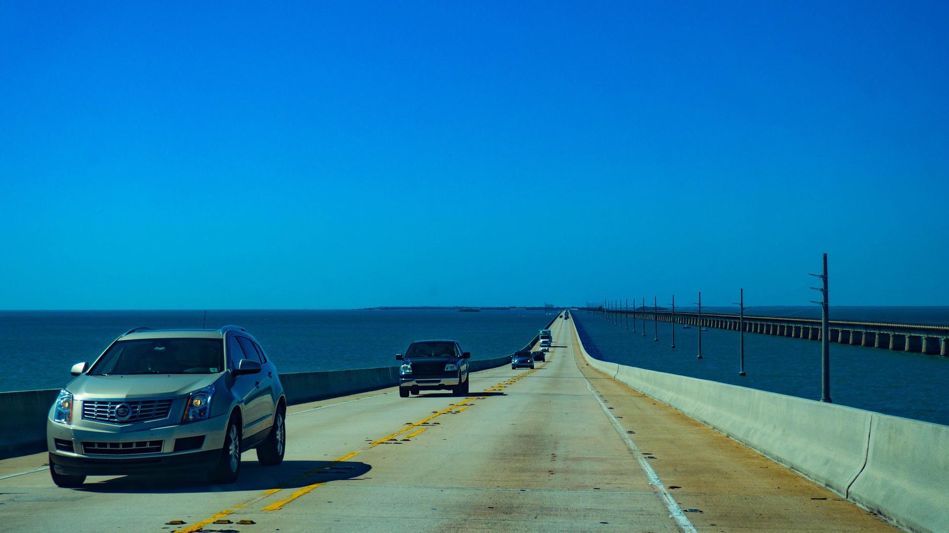 Florida Keyes Brücke auf die Inseln
