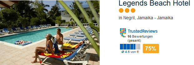 Legends Beach Hotel - in Negril an der Kilometerlangen Strandpromenade
