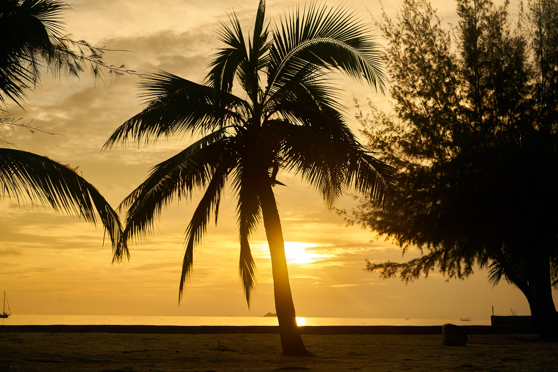 Sonnenuntergang im Urlaub
