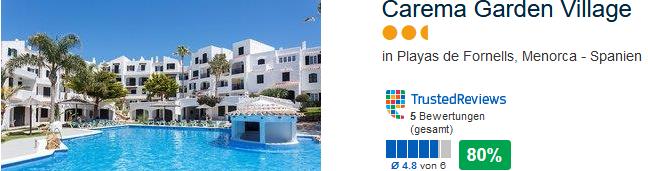 Playas de Fornells Menorca Apartement mit direkter Strandlage