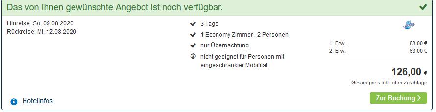Screenshot Deal Amsterdam Urlaub - 4 Sterne Deal ab 21,00€ Nacht