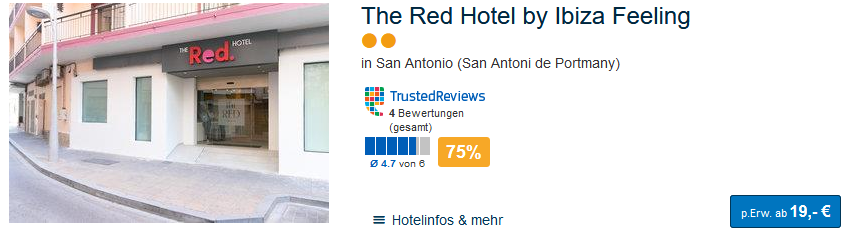 The Red Hotel by Ibiza-Feeling