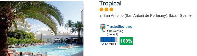 Tropical drei Sterne Hotel am San Antoni de Portmany